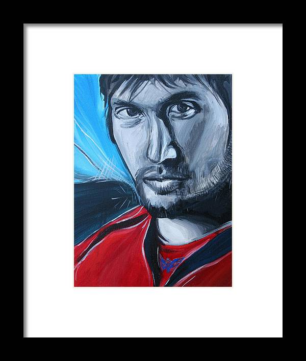 Alex Ovechkin Framed Print featuring the painting Ovechkin by Kate Fortin