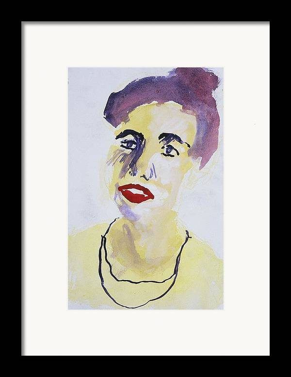 Fine Art Framed Print featuring the painting Overlap by Iris Gill