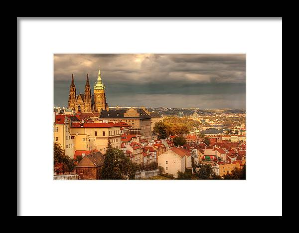 Prague Framed Print featuring the photograph Overlook Prague by John Galbo