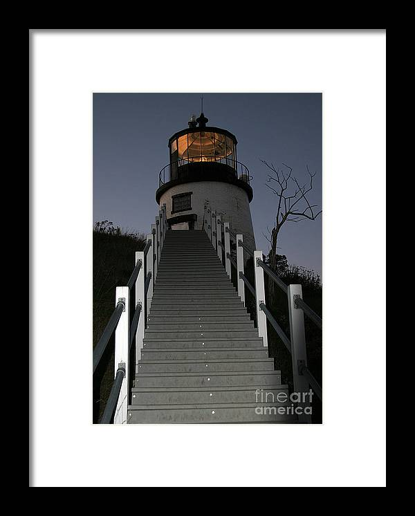 Paranormal Framed Print featuring the photograph Owls Head Light by Brenda Giasson