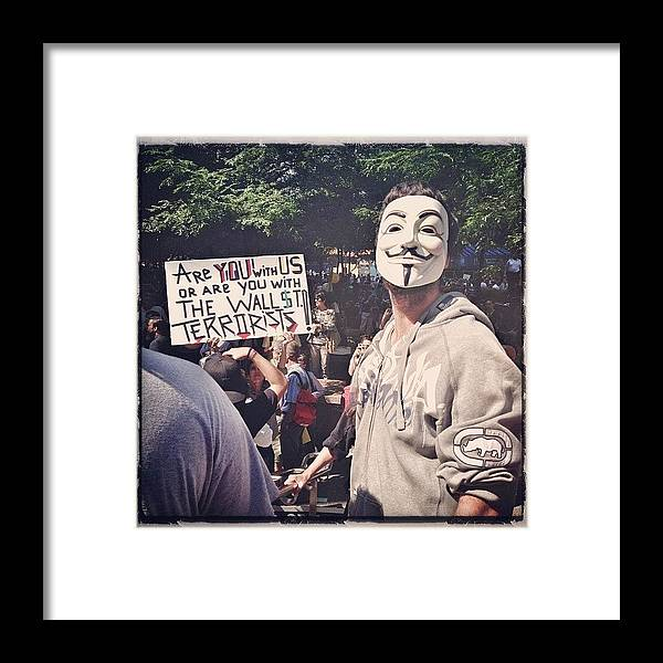 Summer Framed Print featuring the photograph Ows Occupy Wall Street by Randy Lemoine