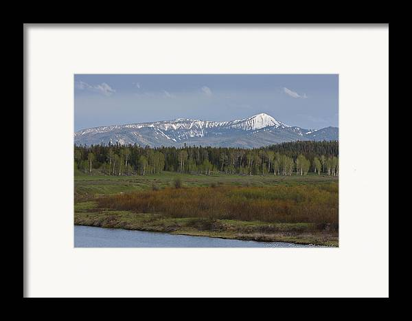Oxbow Bend Framed Print featuring the photograph Oxbow Bend by Charles Warren