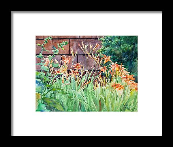 Framed Print featuring the painting Oxenden Lilies by Peter Sit