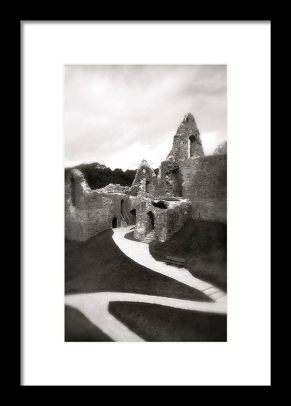 The Mumbles Framed Print featuring the photograph Oystermouth Castle by John Colley