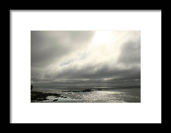 Pacific Ocean Framed Print featuring the photograph Pacific Ocean At Point Lobos California by Suzanne Lorenz