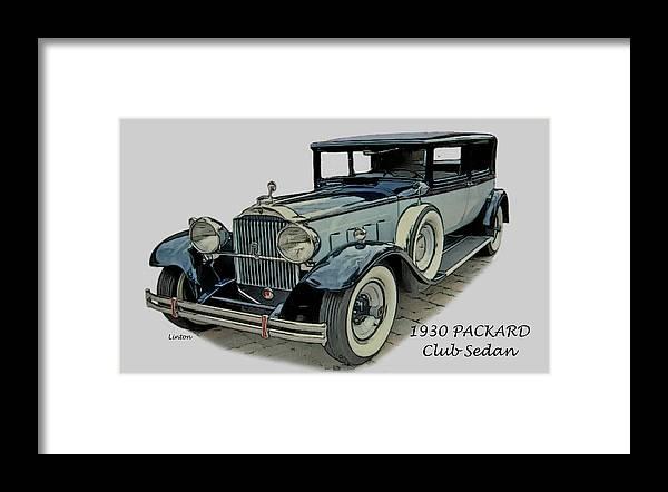 Packard Framed Print featuring the digital art Packard by Larry Linton
