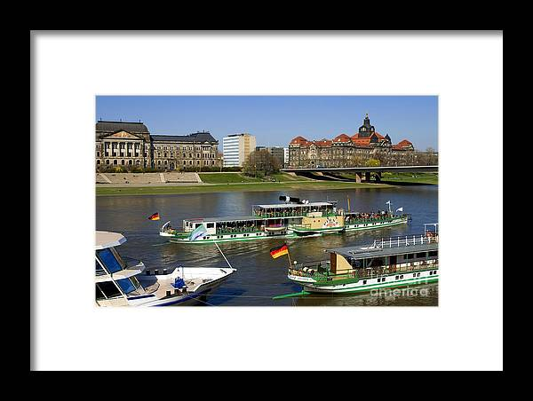 Architecture Framed Print featuring the photograph Paddle Steamers by Katja Zuske