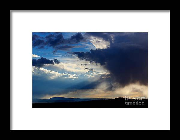 Wyoming Framed Print featuring the photograph Painting With Light by Wesley Hahn