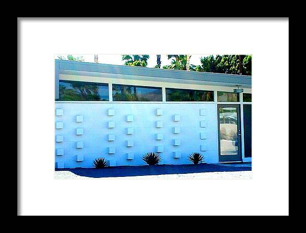 Modern Architecture Framed Print featuring the photograph Palm Springs Modern Home Two by Randall Weidner