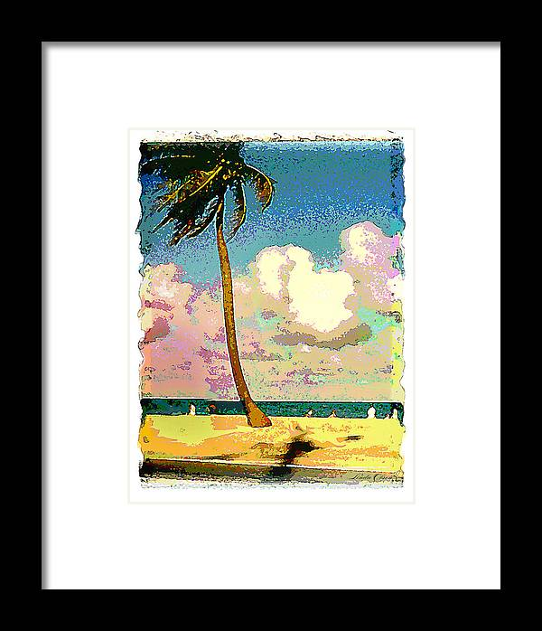 Palm Framed Print featuring the photograph Palm Two by Linda Olsen