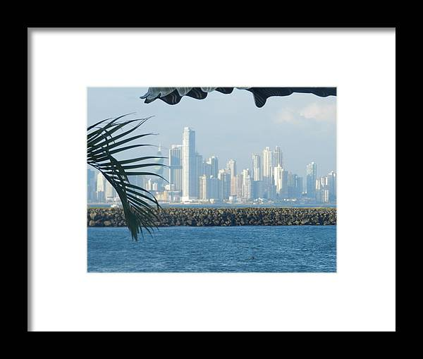 Causeway Framed Print featuring the photograph Panama City Panama by Genevieve Keillor