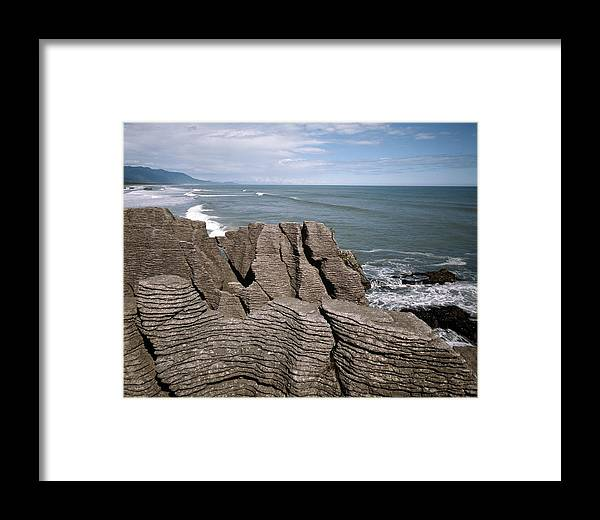 Pancake Rocks Framed Print featuring the photograph Pancake Rocks, South Island, New Zealand by Michael Marten