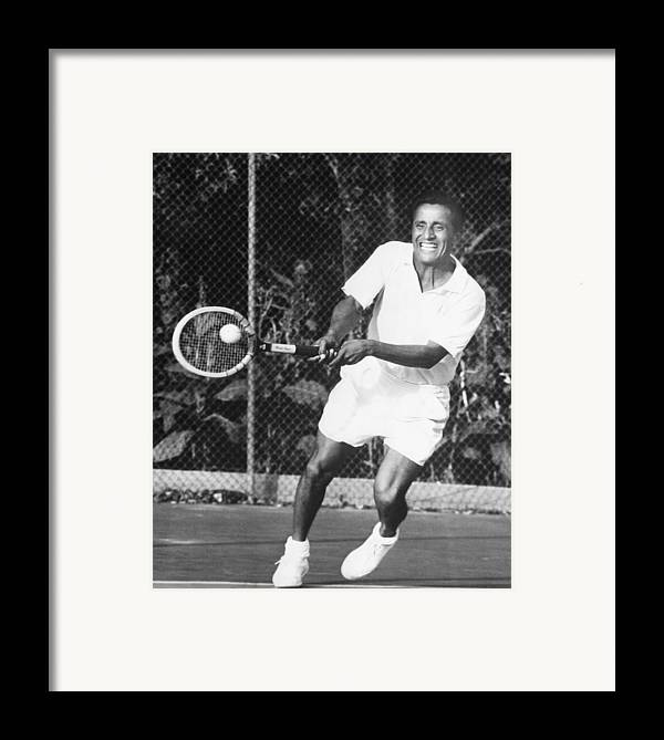 1950s Candids Framed Print featuring the photograph Pancho Segura, Ecuadorian And American by Everett