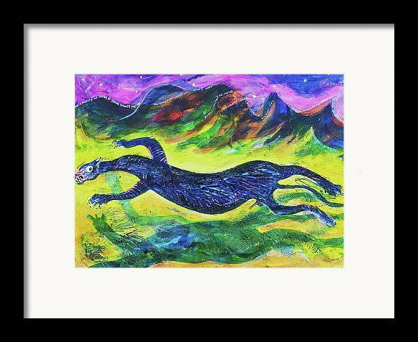 Art Framed Print featuring the painting Panther In The Springtime by Ion vincent DAnu