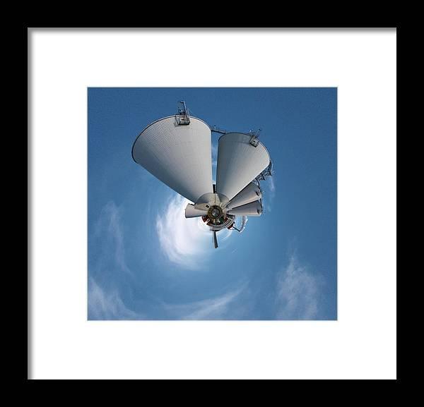 Jouko Lehto Framed Print featuring the photograph Paper Mill In The Sky by Jouko Lehto
