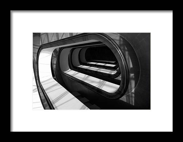 Black And White Framed Print featuring the photograph Paperclips by Stanley Azzopardi