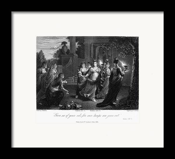 Christianity Framed Print featuring the photograph Parable Of Virgins by Granger