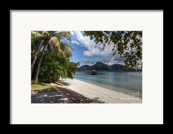 Beach Framed Print featuring the photograph Paradise Island by Adrian Evans