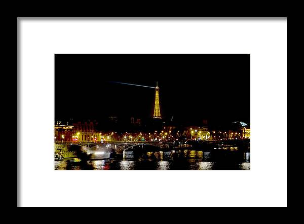 Eifel Tower Framed Print featuring the photograph Paris Night by Keith Stokes