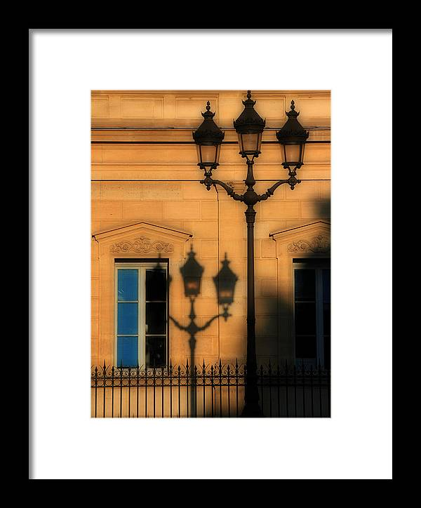 Paris Framed Print featuring the photograph Paris Shadows by Andrew Fare