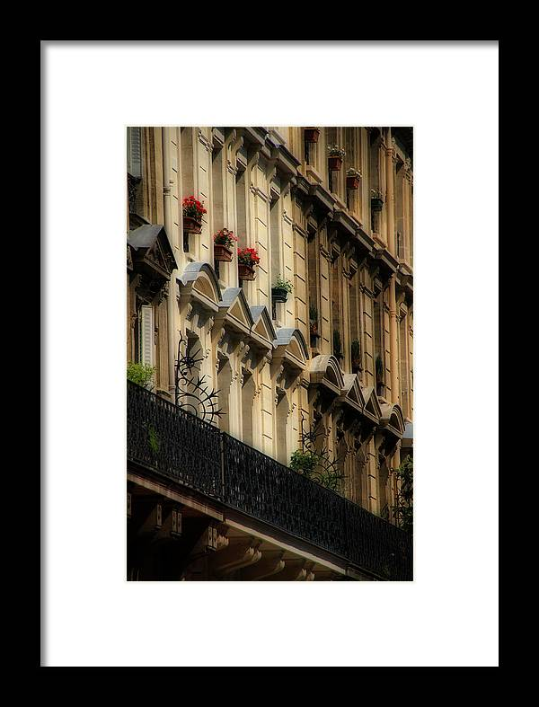 Paris Framed Print featuring the photograph Paris Windows by Andrew Fare