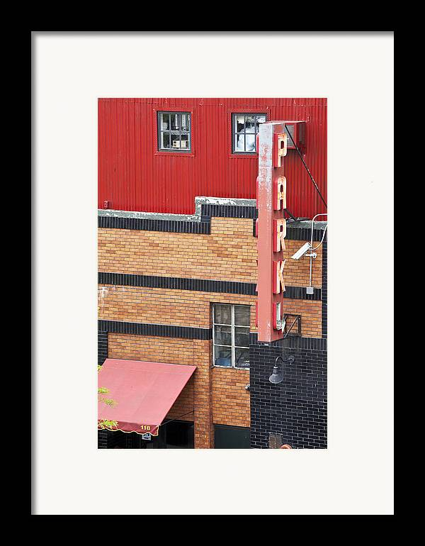 Framed Print featuring the photograph Park 1 by Art Ferrier