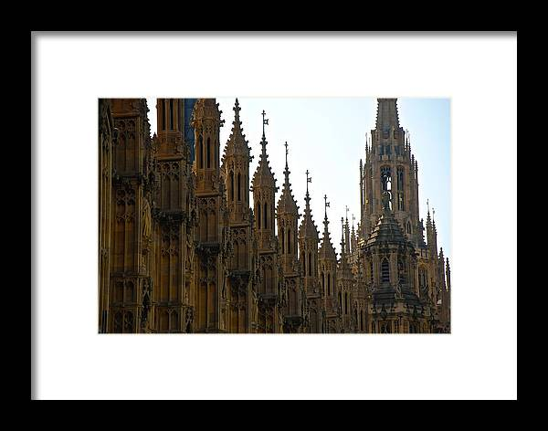 Parliament Framed Print featuring the photograph Parliament's Spires by Eric Tressler