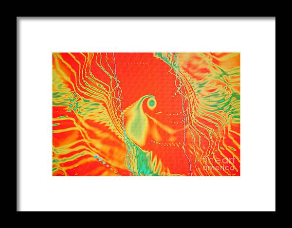 Abstract Framed Print featuring the photograph Parrot Fire by Tashia Peterman