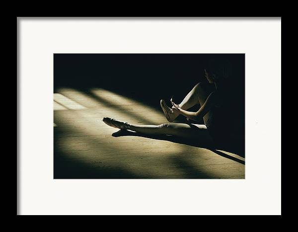 Anatomy Framed Print featuring the photograph Partially Hidden In Shadow, A Ballet by Robert Madden