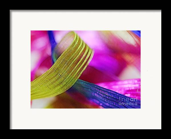Green Framed Print featuring the photograph Party Ribbons by Judi Bagwell