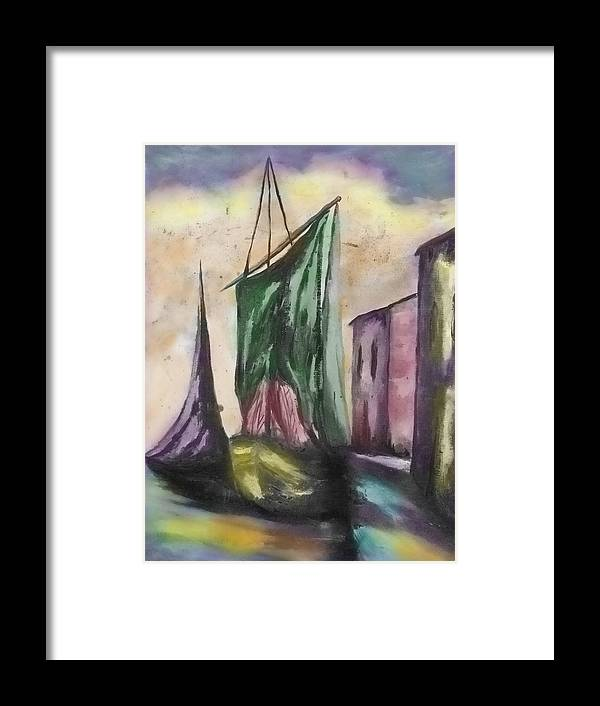 Sail Boat Framed Print featuring the photograph Passing By by Kristie Bonnewell