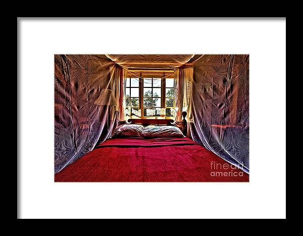 Bed Framed Print featuring the photograph Passion by Adam Jewell