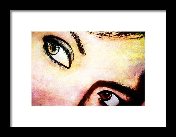 Eyes Framed Print featuring the photograph Passionate Eyes by Ester Rogers