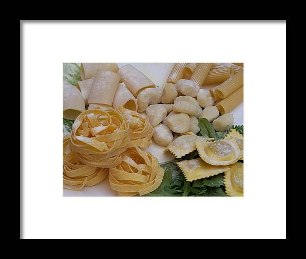 Sandy Collier Framed Print featuring the photograph Pasta Perfect by Sandy Collier