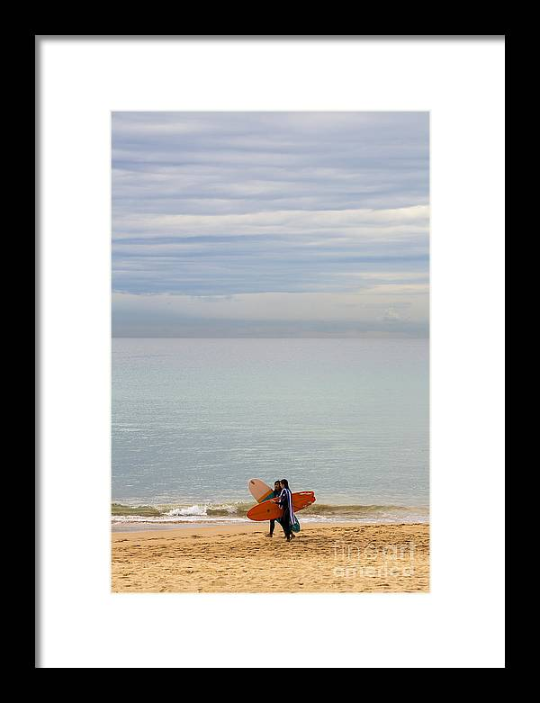 Pastel Framed Print featuring the photograph Pastel Manly morning by Sheila Smart Fine Art Photography