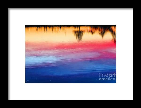 Dawn Framed Print featuring the photograph Pastel watercolor by Rrrose Pix