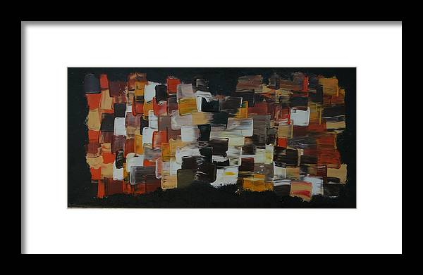 Pallet Knife Painting Framed Print featuring the painting Patchwork by James Johnson