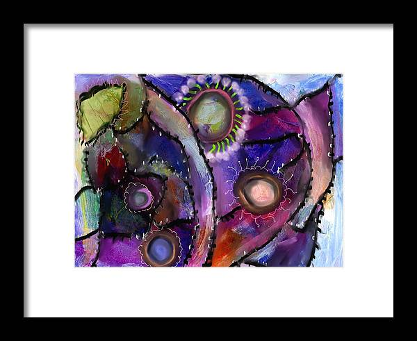 Creative Passages Framed Print featuring the digital art Patchwork Whimsey by Cassandra Donnelly