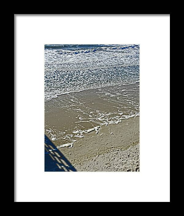 Oak Island Framed Print featuring the photograph Patterns by Beebe Barksdale-Bruner