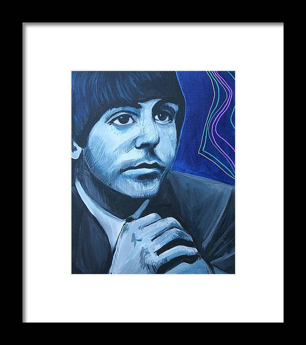 Beatles Framed Print featuring the painting Paul Mccartney by Kate Fortin