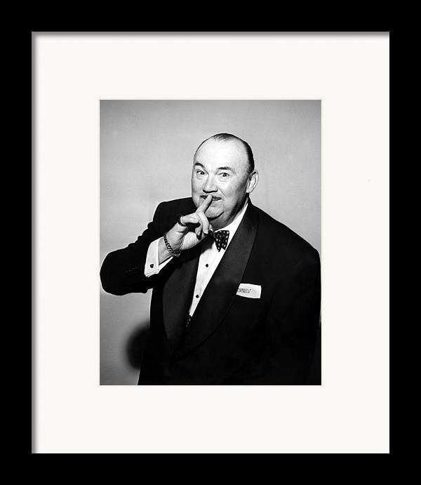 1950s Portraits Framed Print featuring the photograph Paul Whiteman, Bandleader, Early 1950s by Everett