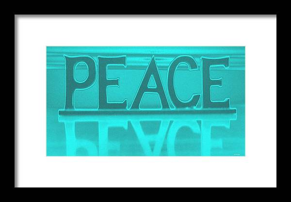 Decorative Framed Print featuring the digital art Peace by Ines Garay-Colomba