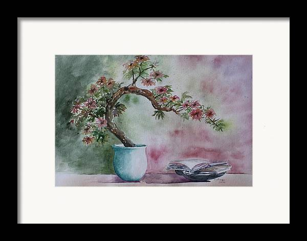 Peaceful Still Life Framed Print featuring the painting Peace Of Mind by Patsy Sharpe