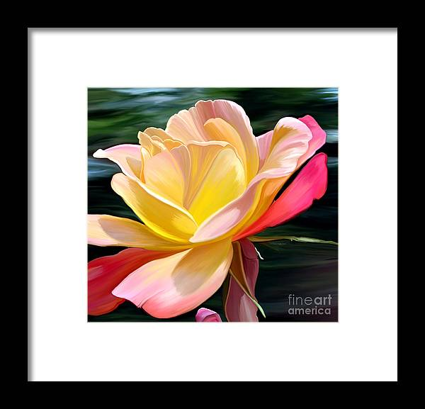 Fine Art Framed Print featuring the painting Peace by Patricia Griffin Brett