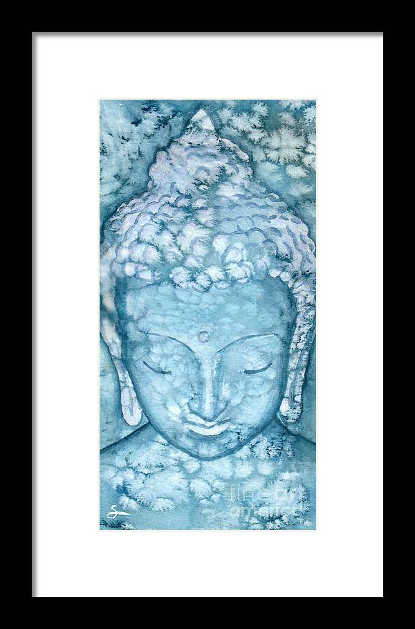 Buddha Framed Print featuring the painting Peaceful Buddha by Scott Alberts