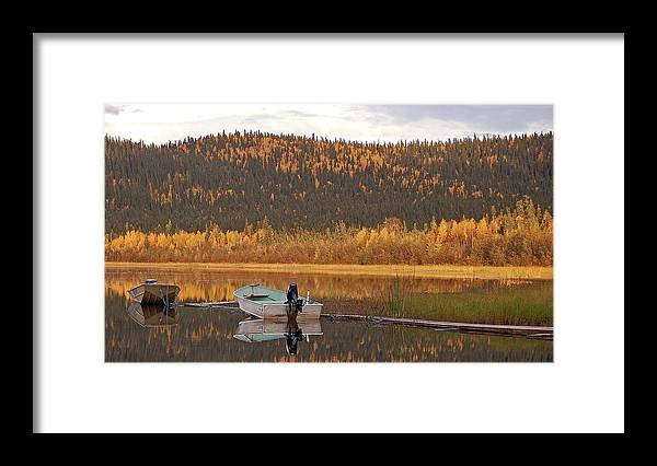 Harding Lake Framed Print featuring the photograph Peaceful Harding Lake by Jim and Kim Shivers