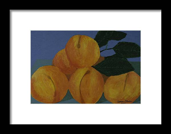 Peaches Framed Print featuring the painting Peaches by Esther Olson
