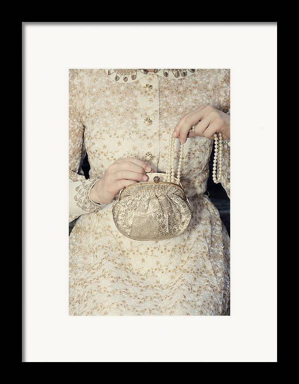 Female Framed Print featuring the photograph Pearls by Joana Kruse