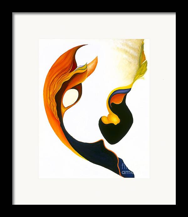 Sensual Framed Print featuring the painting Peek-a-boo by Joanna Pregon