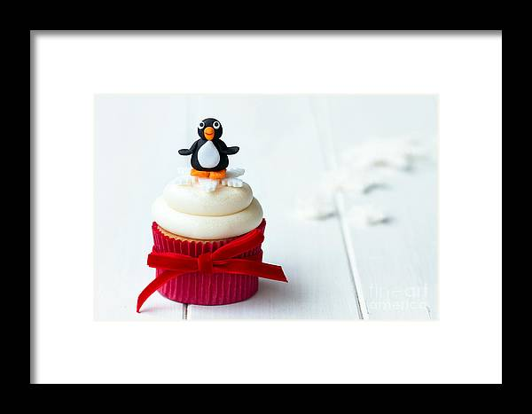 Cupcake Framed Print featuring the photograph Penguin Cupcake by Ruth Black